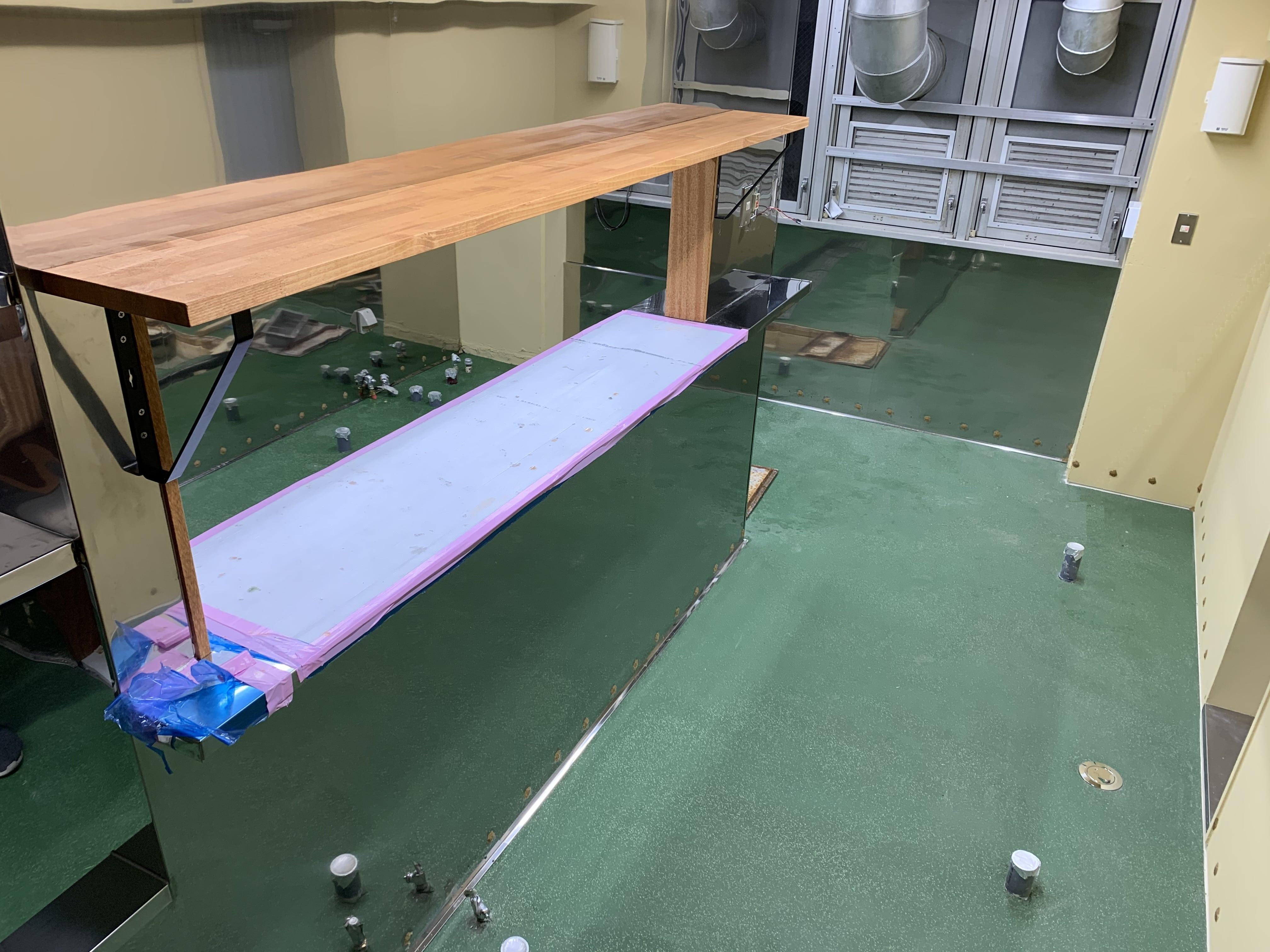藤沢 鵠庵 厨房床工事(神奈川県)